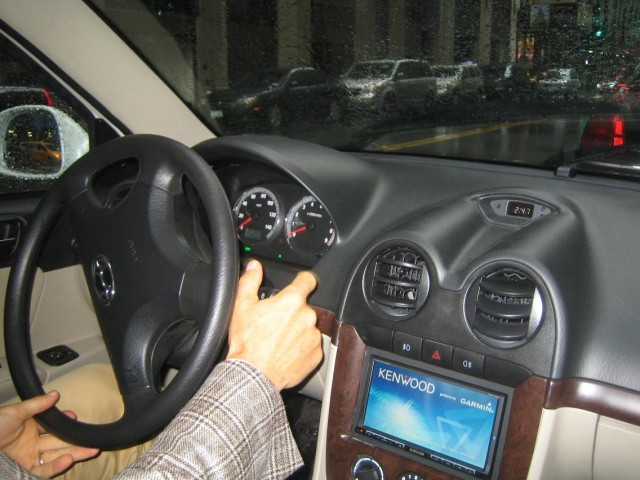 2011 Coda Sedan prototype - production vehicle will have a different dash