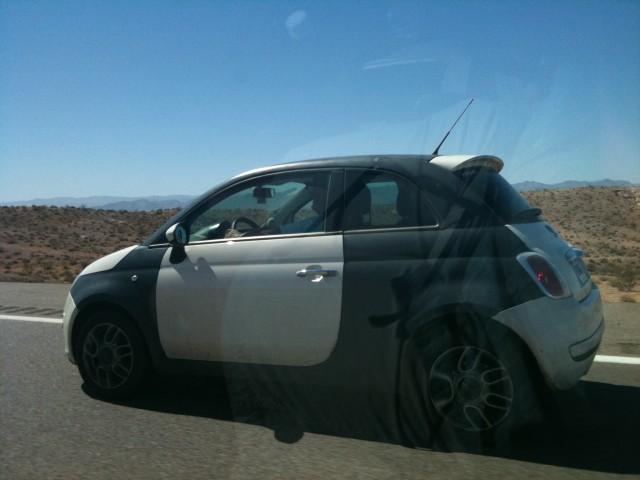 2011 Fiat 500 spied testing in Nevada, photo by KJ Elias
