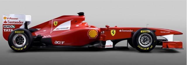 2011 Ferrari F150 Formula 1 race car