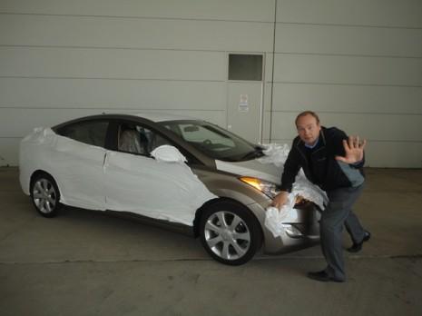 2011 Hyundai Elantra spy shot