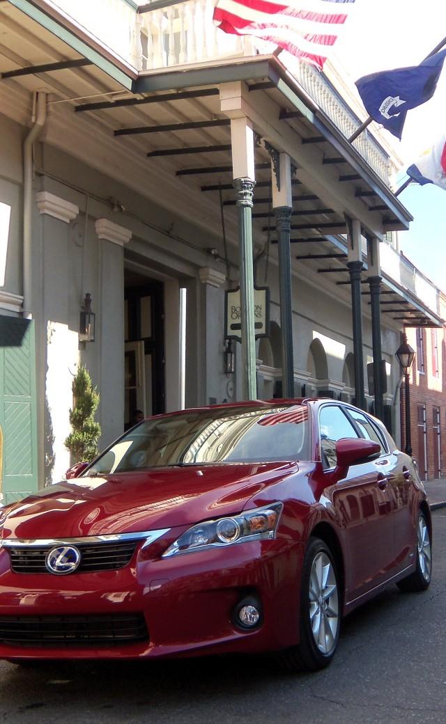 2011 Lexus CT 200h Hybrid in New Orleans' French Quarter