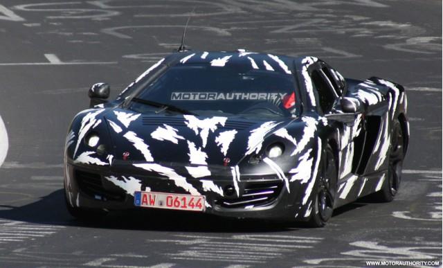 2011 McLaren P11 supercar spy shots