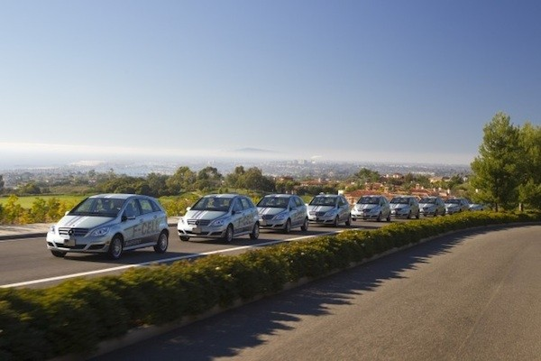 2011 Mercedes-Benz B-Class F-Cell hydrogen fuel-cell vehicles in California