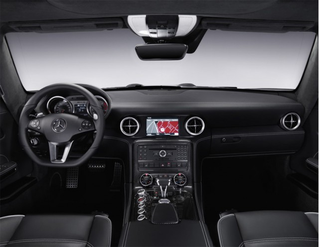Designers have gone with a distinctively retro look for the interior of the new SLS AMG