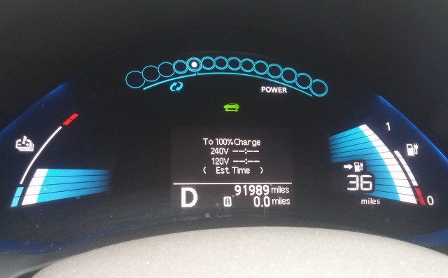 2011 Nissan Leaf at 96,000 miles, photo by owner Rick SantAngelo