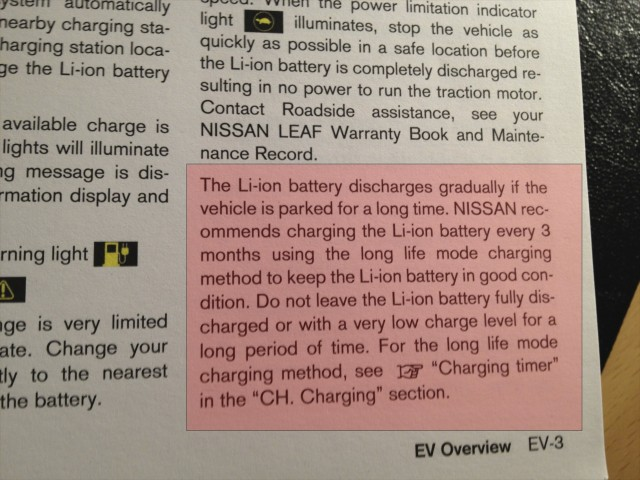2011 NIssan Leaf Battery Warranty Information
