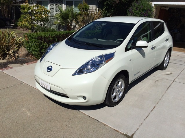 2011 Nissan Leaf electric car after battery-pack replacement [by owner Tim Jacobsen, Concord, CA]