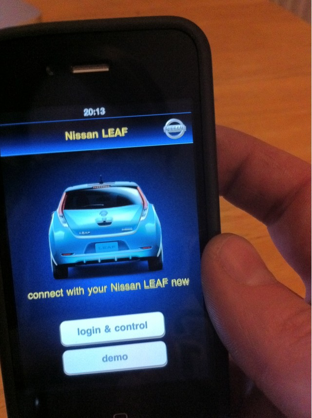 iphone apps waiting waiting for your 2011 nissan leaf here an iphone app 8147