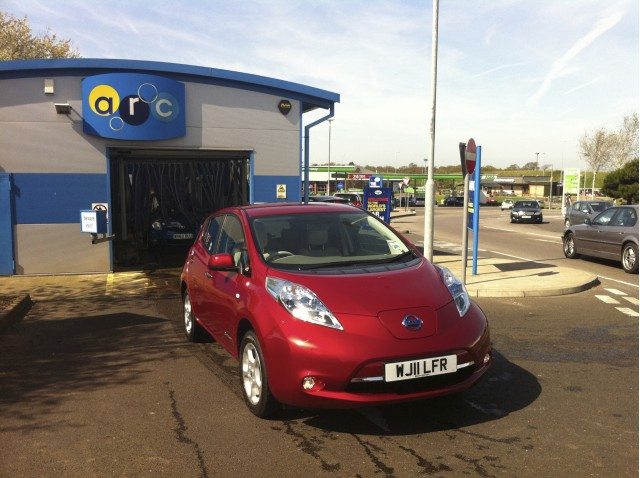 Will an electric car survive the car wash? We find out.