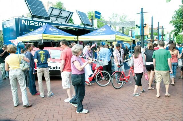 Nissan Innovation for Endurance and Nissan LEAF in Boulder, Colo. for BolderBoulder