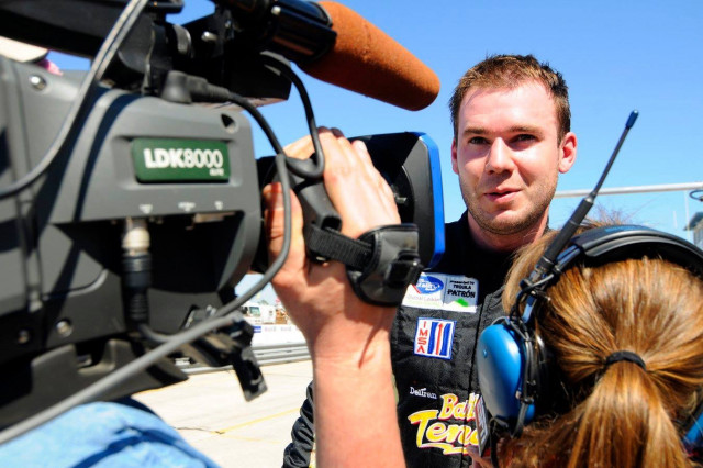2011 Sebring 12 hours ALMS. Lehman Keen interviewed after qualifying on Pole in the GTC class