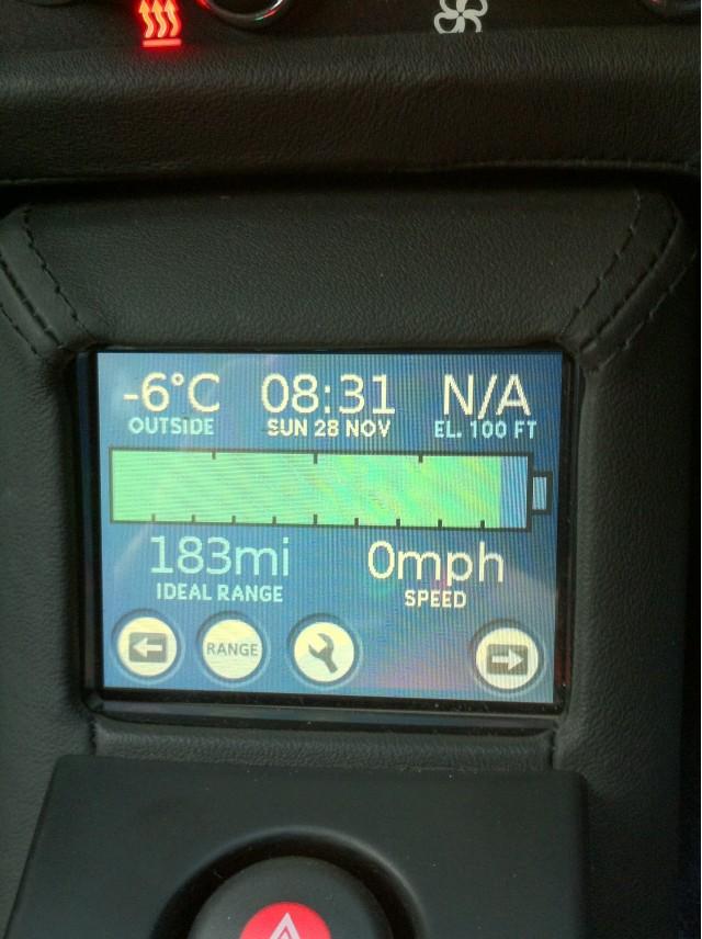 2010 Tesla Roadster Sport 2.5 Cold Weather Testing