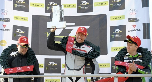 2011 TT Zero Motorcycle Race Winning Team MotoCzysz