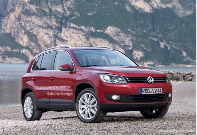 2011 Volkswagen Tiguan facelift rendering