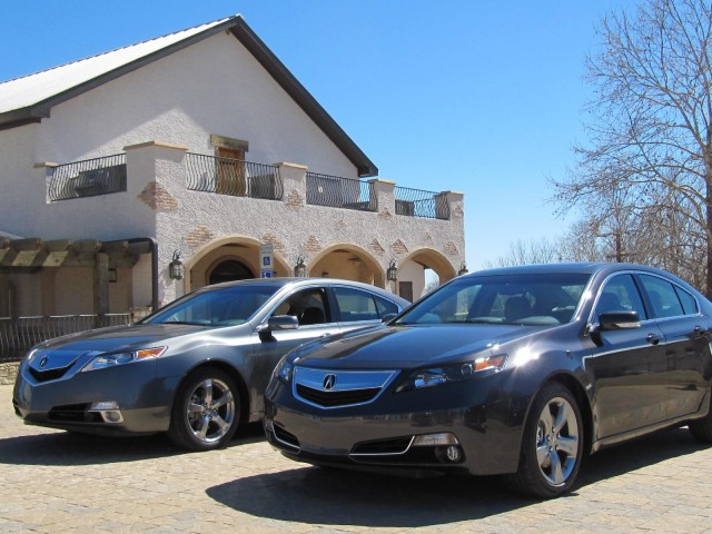 2012 Acura TL (right) alongside 2011 model (left)