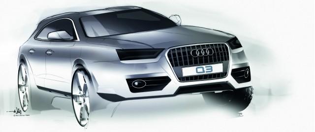 2012 Audi Q3 official sketches