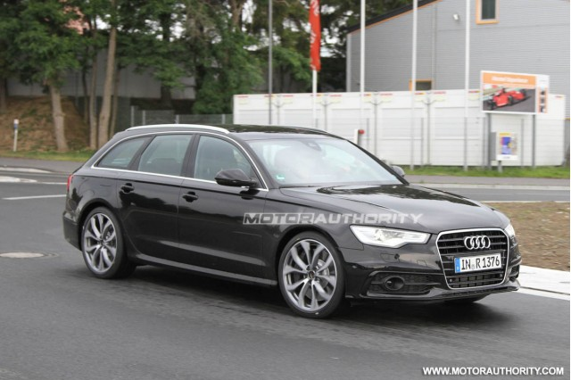 2012 Audi S6 Avant spy shots