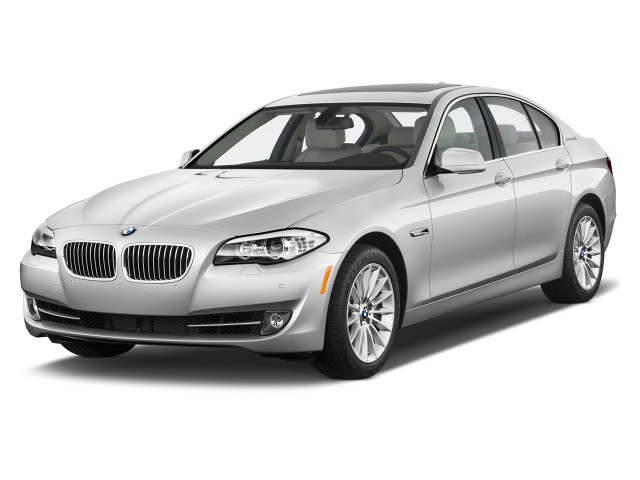 2012 BMW 5-Series 4-door Sedan ActiveHybrid 5 RWD Angular Front Exterior View