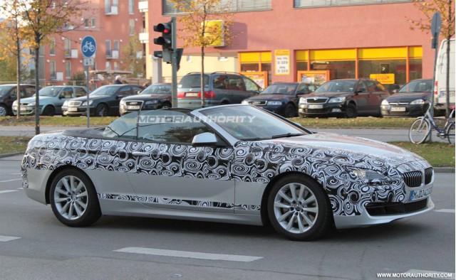 2012 BMW 6-Series Convertible spy shots