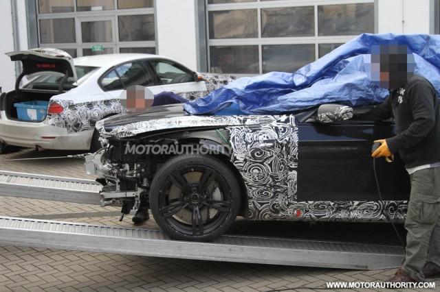 2012 BMW M6 spy shots -- crash damage on the 'Ring