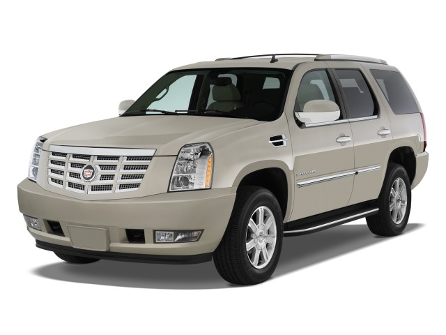 2012 Cadillac Escalade AWD 4-door Base Angular Front Exterior View