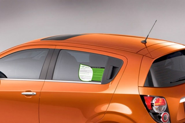 2012 Chevrolet Sonic EcoLogic Label