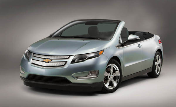 2012 Chevrolet Volt convertible [image courtesy of Road & Track]
