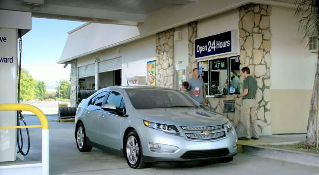2012 Chevrolt Volt Gas Station Advert