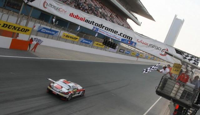 2012 Dubai 24 Hours finish - Image courtesy of 24H Series Live