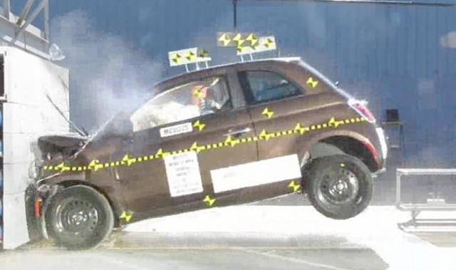 2012 Fiat 500 Front Impact Test
