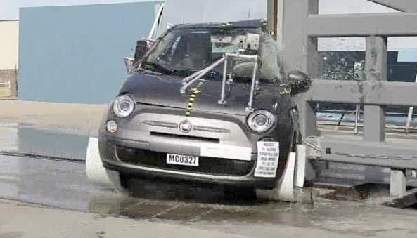 2012 Fiat 500 Side Impact Test