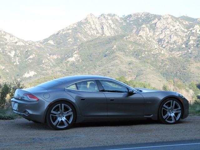 2012 Fisker Karma during road test Los Angeles Feb 2012 : door cars - pezcame.com