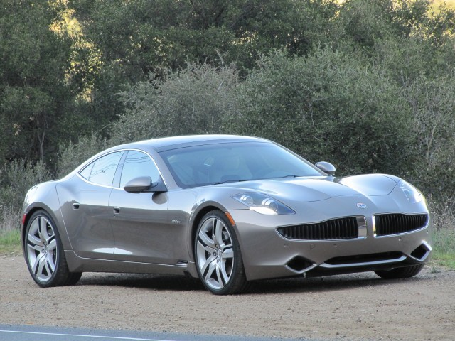 2012 Fisker Karma during road test, Los Angeles, Feb 2012