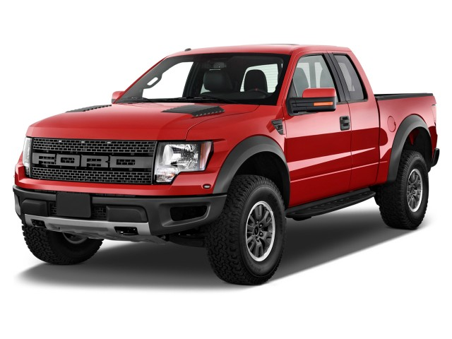 "2012 Ford F-150 4WD SuperCab 133"" SVT Raptor Angular Front Exterior View"