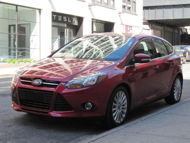 2012 Ford Focus Titanium hatchback, New York, July 2011