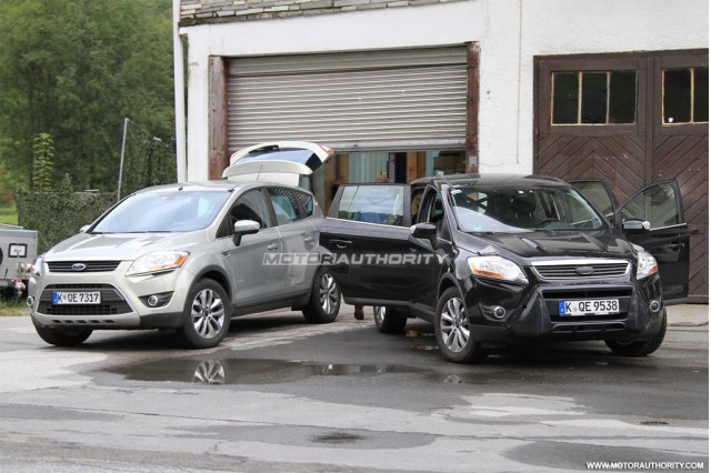 2012 Ford Kuga facelift spy shots