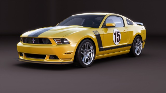 The 2012 Parnelli Jones Boss 302 Mustang, to be auctioned for Henry Ford Health Systems.