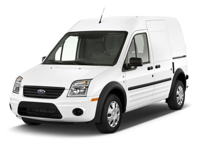 """2012 Ford Transit Connect 114.6"""" XL w/o side or rear door glass Angular Front Exterior View"""