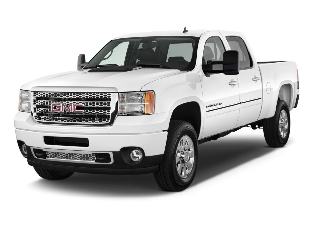 "2012 GMC Sierra 2500HD 2WD Crew Cab 153.7"" Denali Angular Front Exterior View"