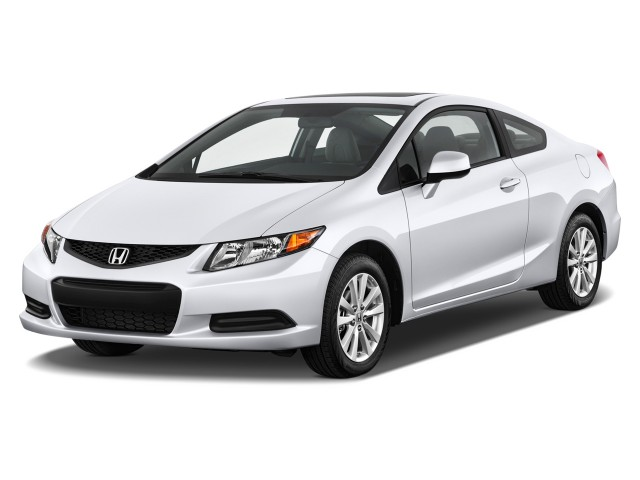 2012 Honda Civic Coupe 2-door Auto EX Angular Front Exterior View