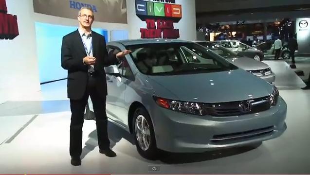 2012 Honda Civic Natural Gas model at New York Auto Show, April 2011