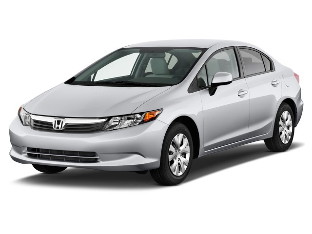 2012 Honda Civic Sedan 4-door Auto LX Angular Front Exterior View