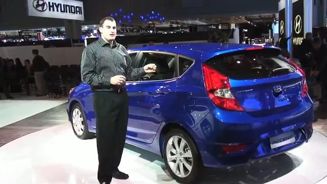 2012 Hyundai Accent Subcompact Video Tour From Ny Auto Show