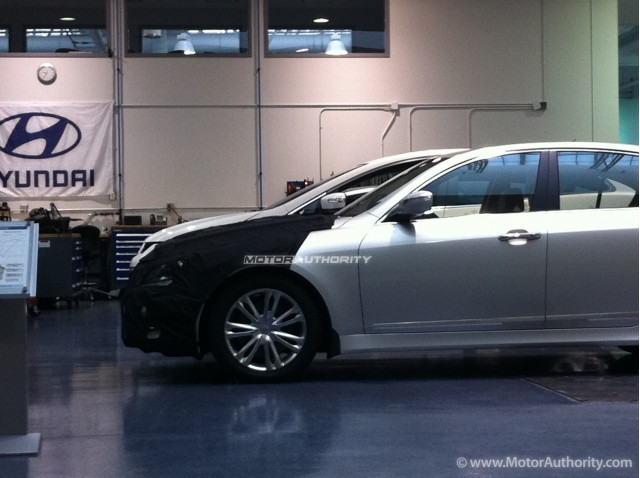 2012 Hyundai Genesis Sedan spy shots from inside Hyundai's Technical Center