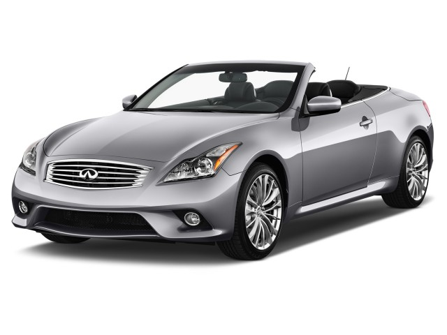 2012 Infiniti G37 Convertible 2-door Base Angular Front Exterior View