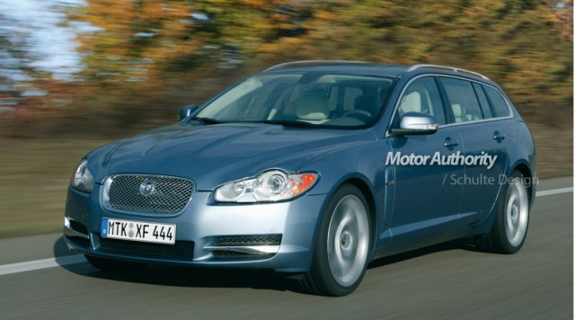2012 Jaguar XF Estate preview rendering