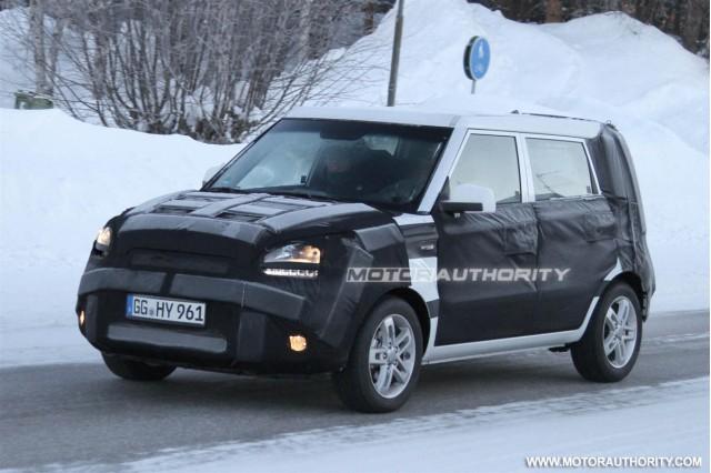 2012 Kia Soul facelift spy shots