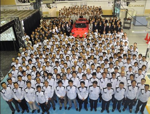 First production 2012 Lexus LFA rolls off the line