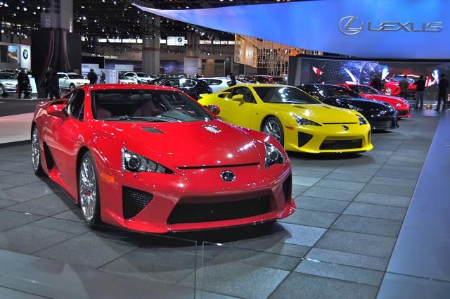 Lexus LFAs at Chicago Auto Show