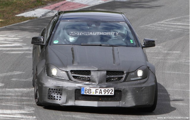 2012 Mercedes-Benz C63 AMG Coupe Black Series spy shots